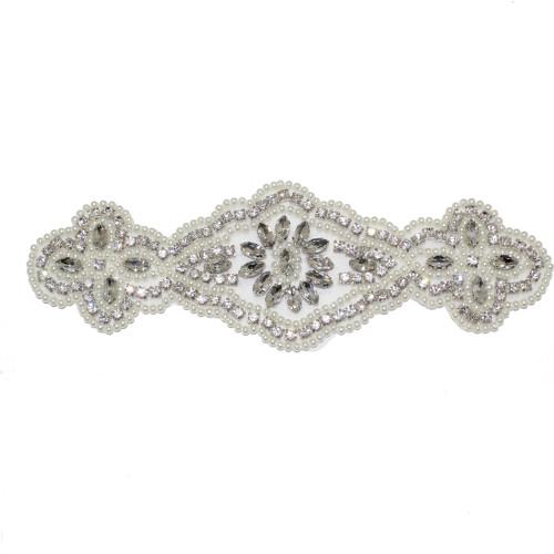 'Gwyneth' Art Deco Bridal Belt Applicate
