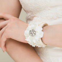 Bespoke Lace Bouquet Bangle/Cuff