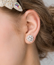 'Giovanna' Vintage Flower Stud Earrings