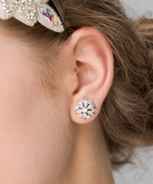 'Giovanna' Vintage Flower Stud Earrings