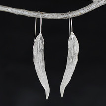 Sterling Silver Willow Tree Leaf Earrings