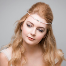 'Brie' Swarovski Crystal and pearls fine boho Forehead Band