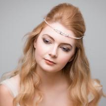 'Brie' Swarovski Crystal and pearls fine boho Forehead Band