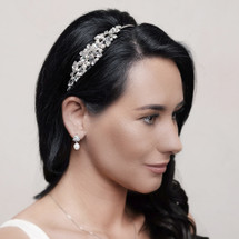 'Cordelia' Sweet Swarovski Crystal and Pearl Side Headband