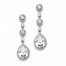 'Ellen' Classic Diamanté Drop Earrings