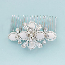 art deco mother shell pearl 20s wedding  invory bridal hair comb