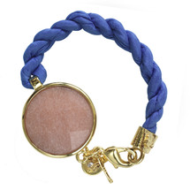 Lite Occasion - Blue and Pink Jadestone Rope Bracelet