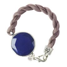 Lite England - Bright Blue Jade Stone rope Bracelet