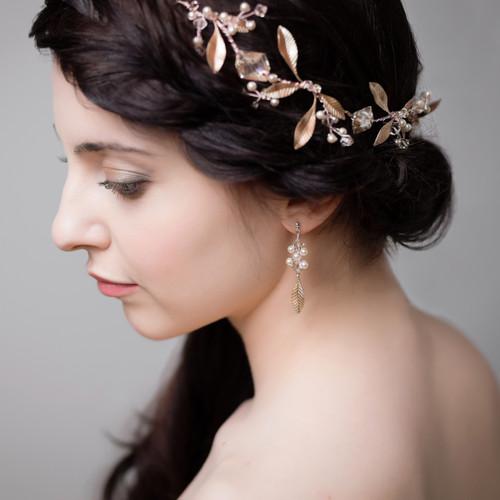 'Zandra' Rose Gold Earrings