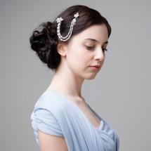 'Kelly' Vintage Side Hair Chain