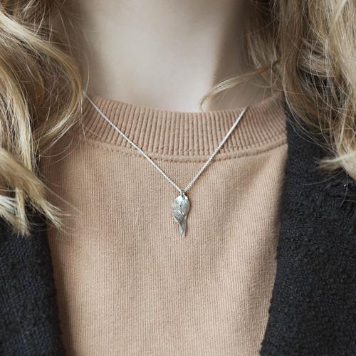 sterling_silver_SWAN_necklace_wing_handmade_Aurum_jewellery_Iceland
