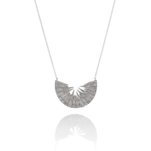TUTTU half moon crescent silver pendant from Iceland Nordic contemporary jewellery design