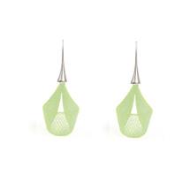 VLUM - Pétale Bright Green Drop Earrings