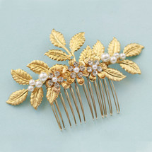 Verity Gold Leafy Hair comb