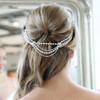 art deco pearl bridal wedding chain drapes