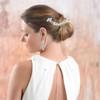 art deco pearl bridal wedding chain drapes  modelling shoot