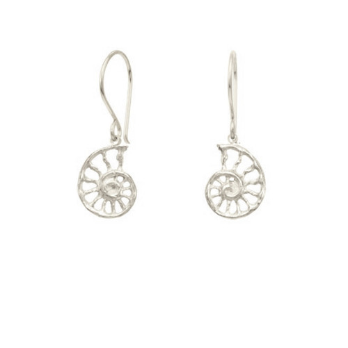 Catherine Weitzman - Recycled Sterling Silver Mini Nautilus Earrings