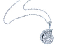 Reeves and Reeves - Sterling Silver Ammonite Necklace