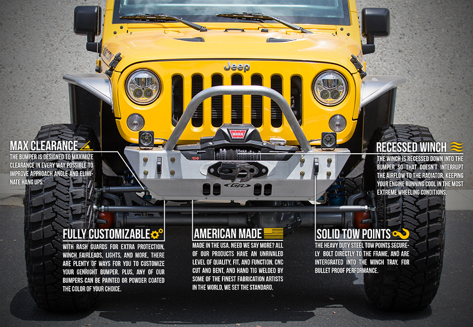 Genright Off Road Front Amp Rear Bumpers For Jeep Jk