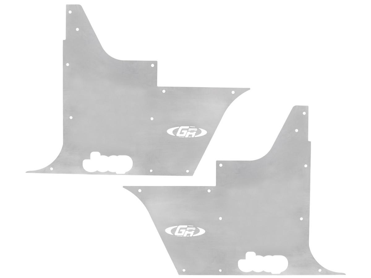 TJ/LJ Flak-Jacket Tub Panel Guards (w/o Hinge Cutouts) - Aluminum