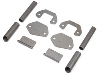 TJ/LJ C-Pillar Tie In Kit parts, hardware included, but not pictured.