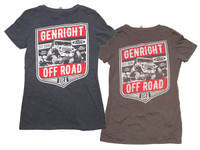 GenRight Womens V-Neck Jeep Tee c4629d6110e4