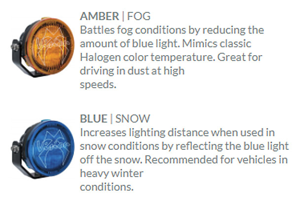 Amber and Blue color cover descriptions