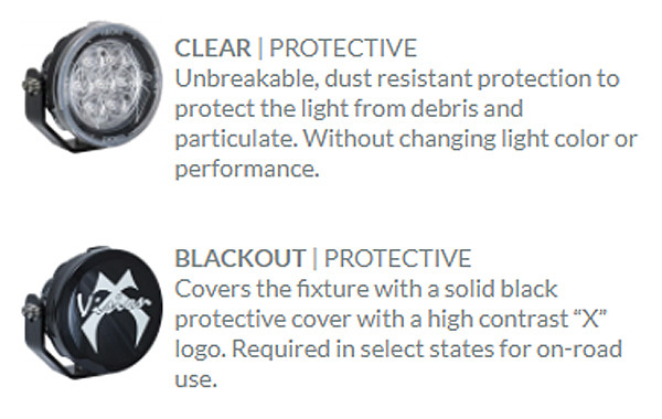 Clear and Black cover descriptions