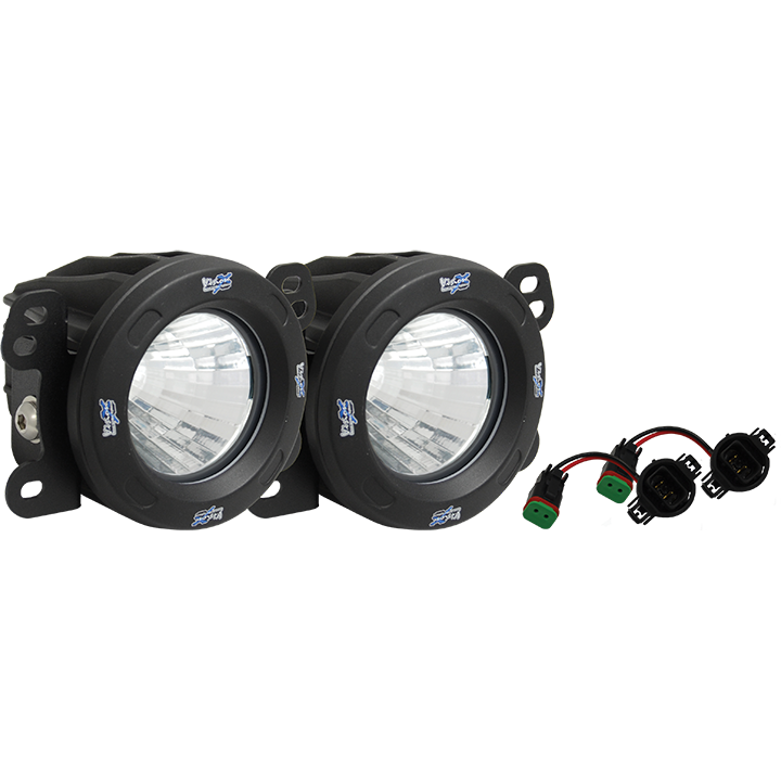 VisionX LED light upgrade for Jeep JK front bumpers