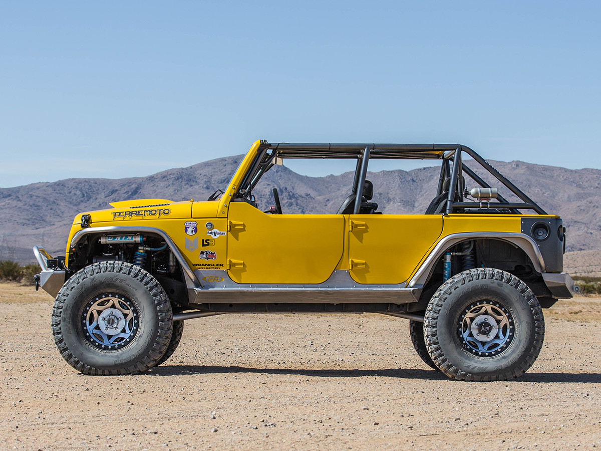Shown here with Upper B Pillar removed, gives it that clean Jeep look!