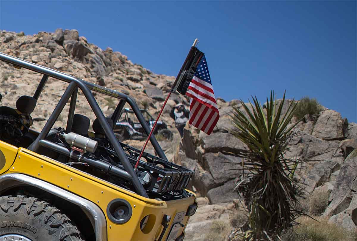 Shown here on Tony's Jeep over the fiberglass CB antenna.
