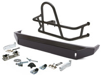 Jeep JK Swing Out Rear Tire Carrier & Fusion Bumper Package (Steel) Powder Coated Black