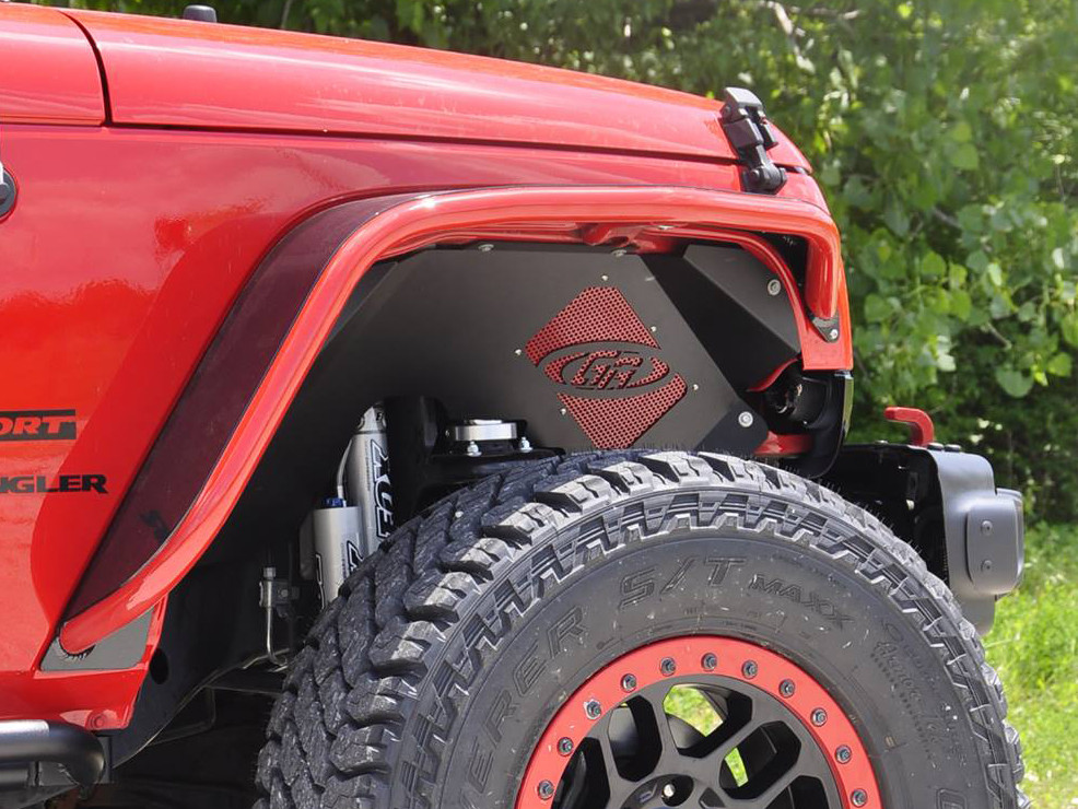 Jeep JK Aluminum Front Inner Fenders w/ custom powder coated insert