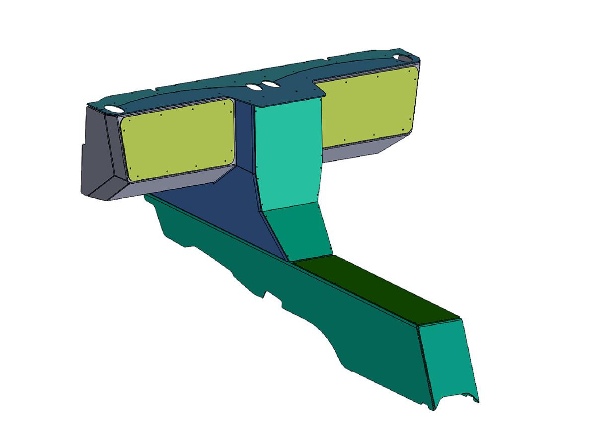 Jeep JK Aluminum Dash & Center Console Kit Designed in SolidWorks  CAD