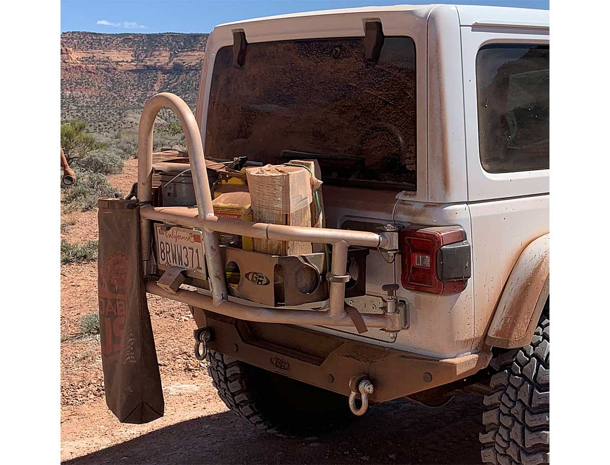 Great for carrying dirty or smelly camping gear on the outside of your Jeep