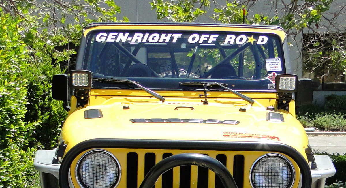 A pillar or Windshield light mounts for the Jeep TJ or LJ