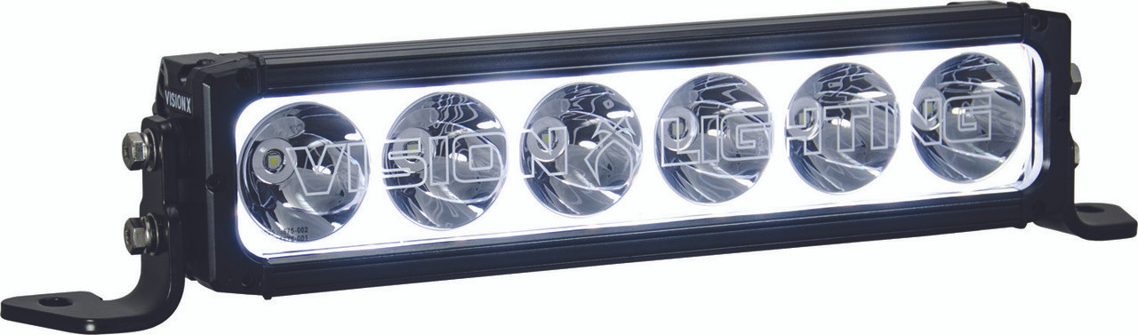 """Vision X XPR 12"""" LED Light Bar (XPR-H6S) Pictured with Halo on."""