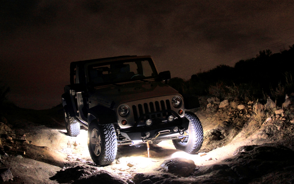 This is how rock lights help you out on the trail