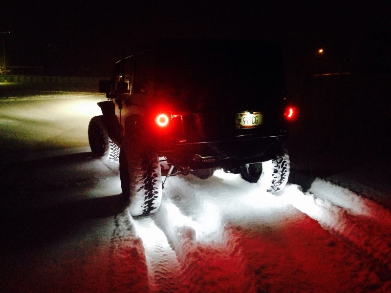 This is how cool the VisionX rock lights look when on under your Jeep!