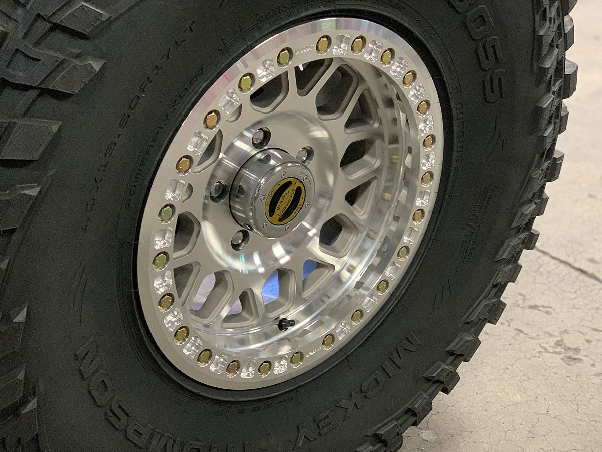 """Pictured here with a 40"""" M/T Baja BOSS tires mounted"""