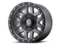 KMC XD128 Machete Wheel (Matte Grey w/ Black Ring)
