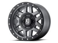 KMC XD128 Machete Wheel (Matte Grey w/ Black Ring)