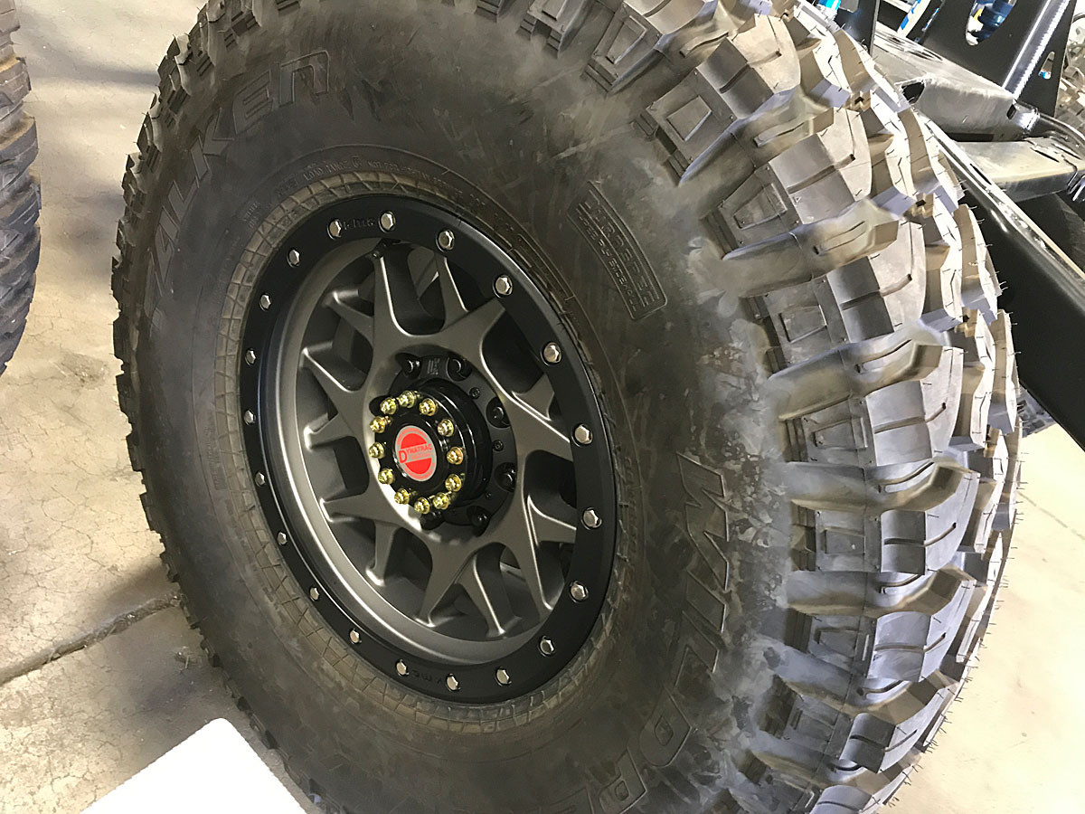 8 Lug version of the XD128 with an M/T tire