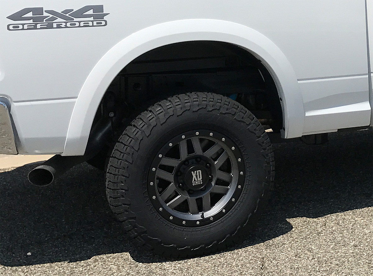 "On a truck with 33"" tall A/T tires"