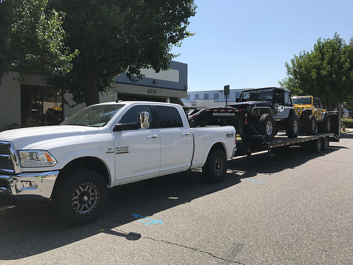 Can handle the 18,000lb load we tow cross country