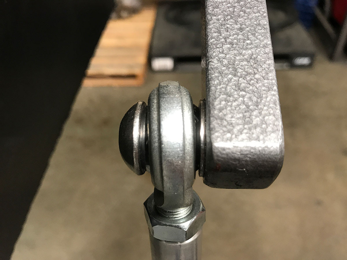 Example of the heim being used at the sway bar arm