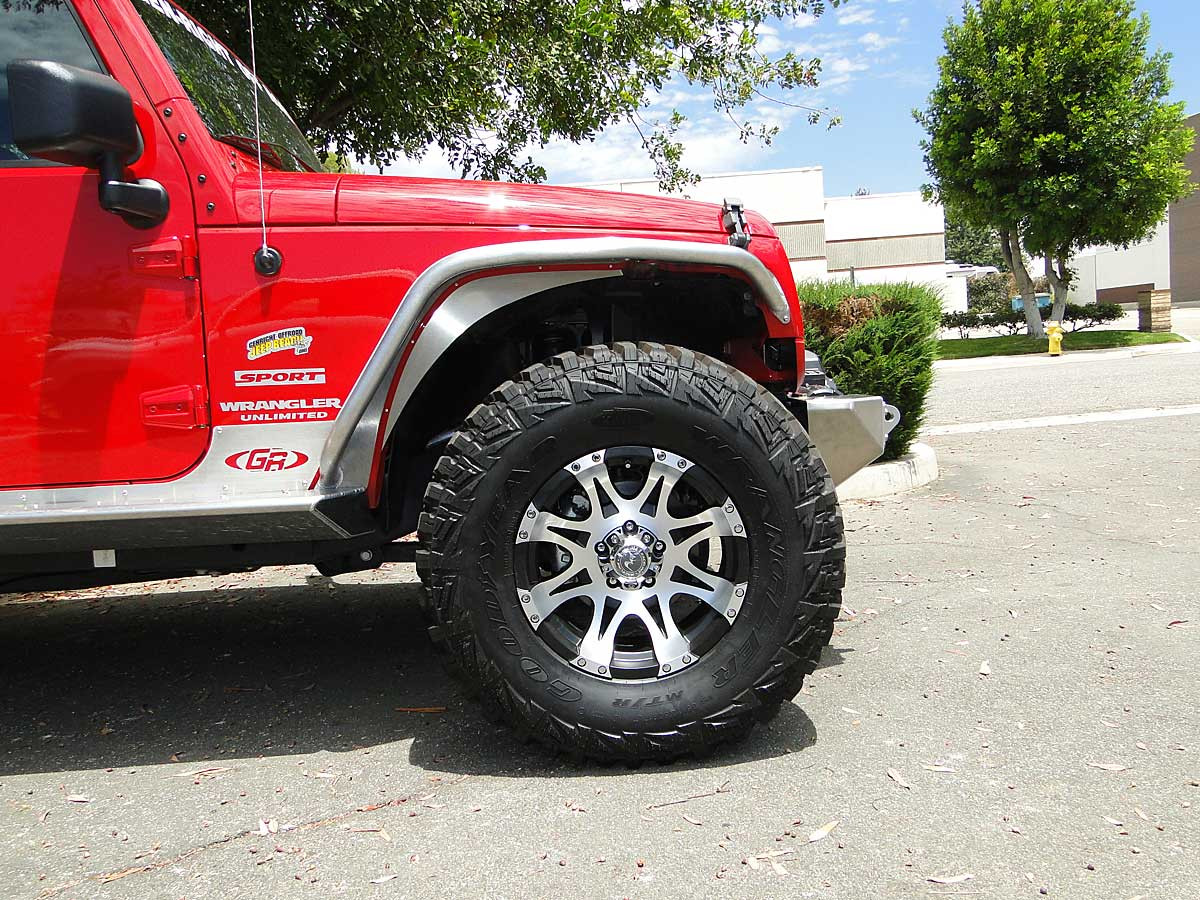 "Raceline wheel on Jeep JK with 35"" tires and 1-3/4"" lift"