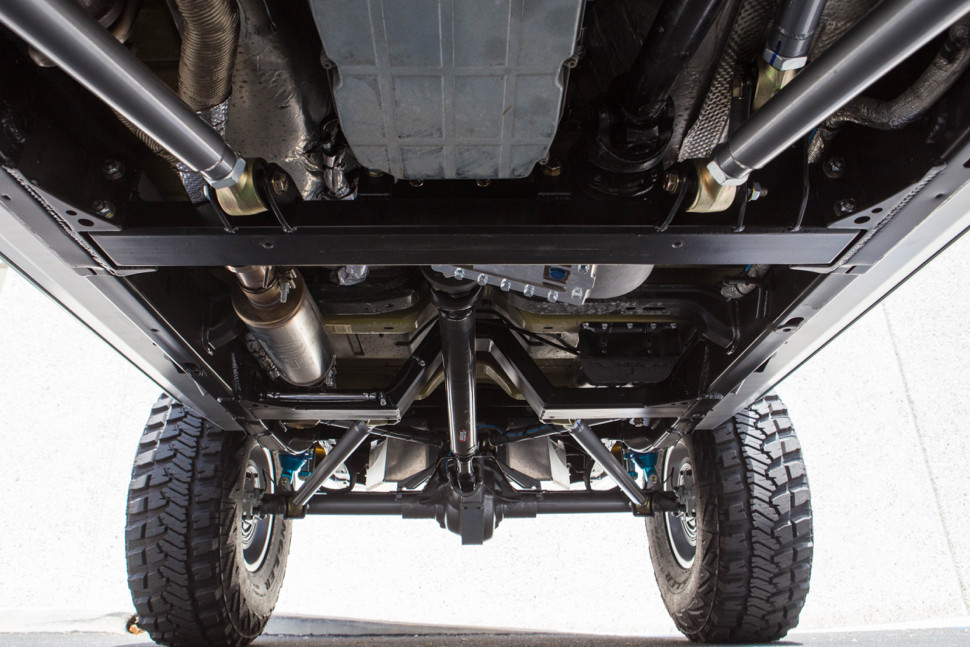 Shown here with Flat Belly Aluminum Skid Plate removed