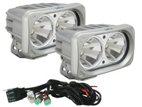 Optimus Dual Square Silver 10W LEDs 60° Flood Beam (Kit, 2 Lights)