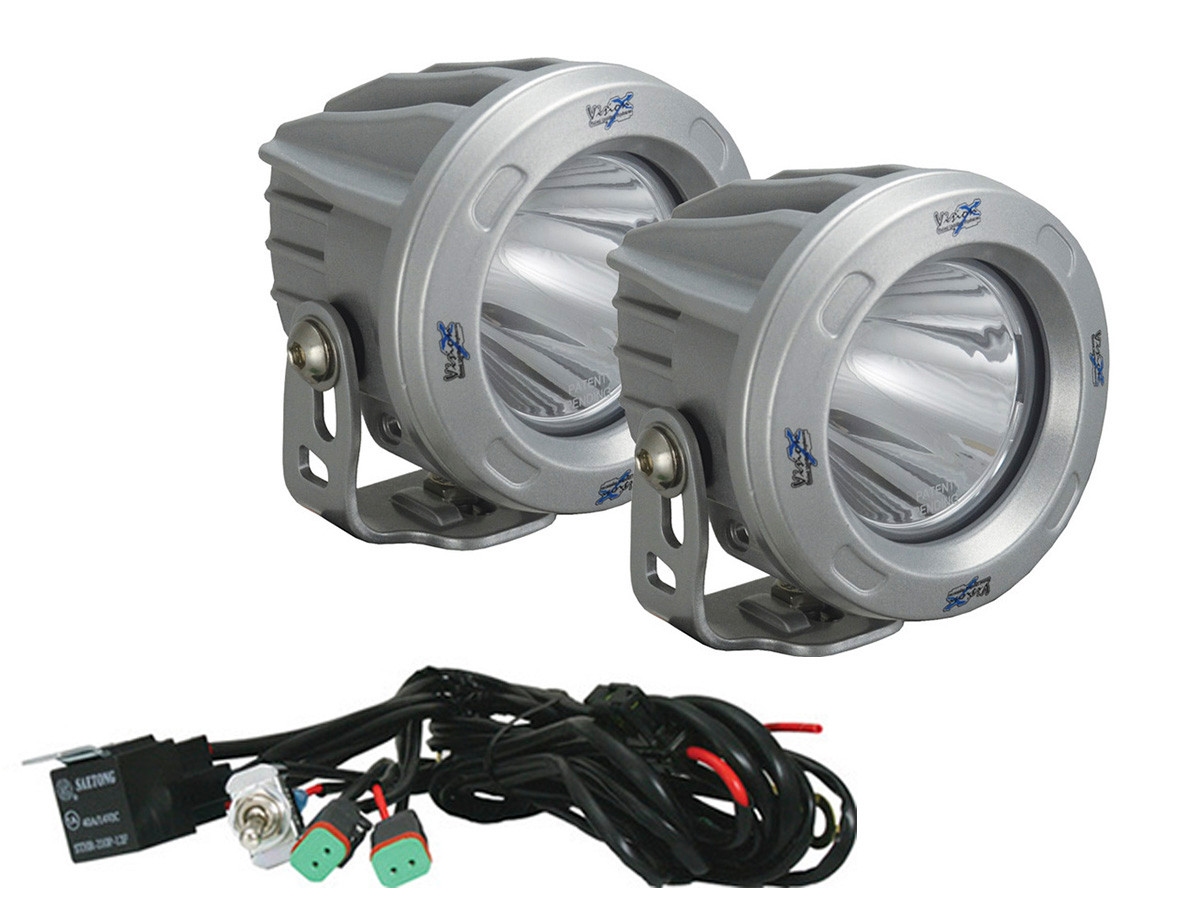 Outstanding Visionx Optimus 3 Round Silver 10W Leds 600 Flood 2 Light Kit Wiring 101 Akebwellnesstrialsorg